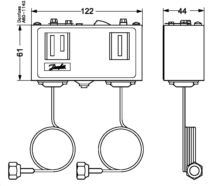 danfoss dual pressure switch wiring diagram