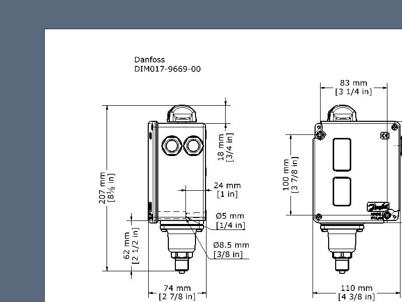 Pressure switch, RT117L | Pressure Switches | Switches | Industrial on