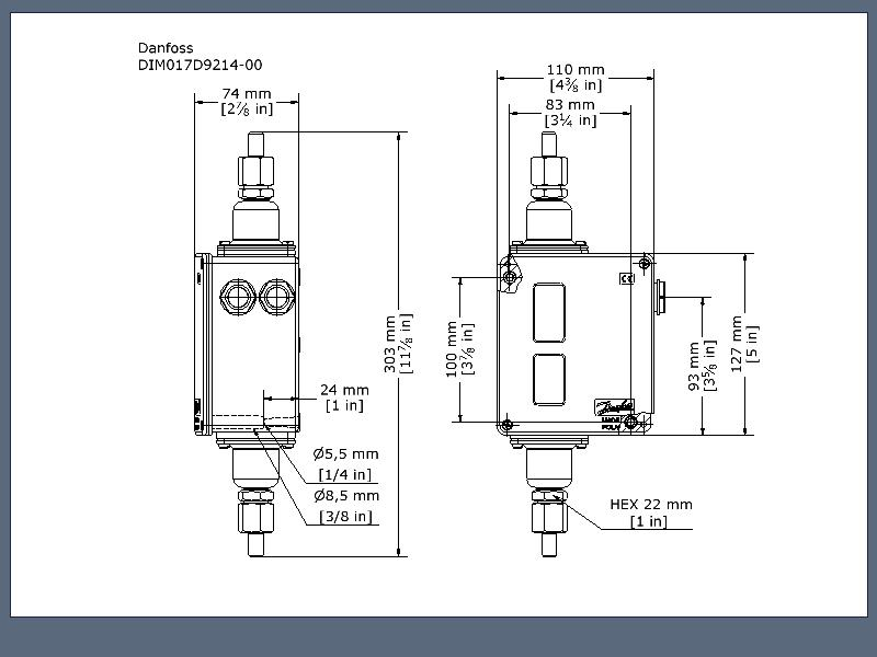 Differential pressure switch, RT260A | Differential Pressure ... on