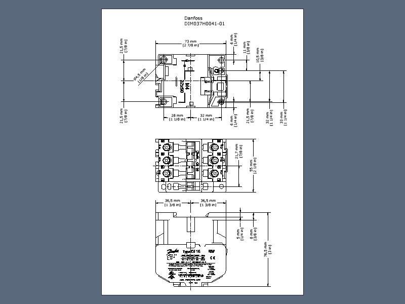 037H0051-16 Danfoss CI 25 Contactor