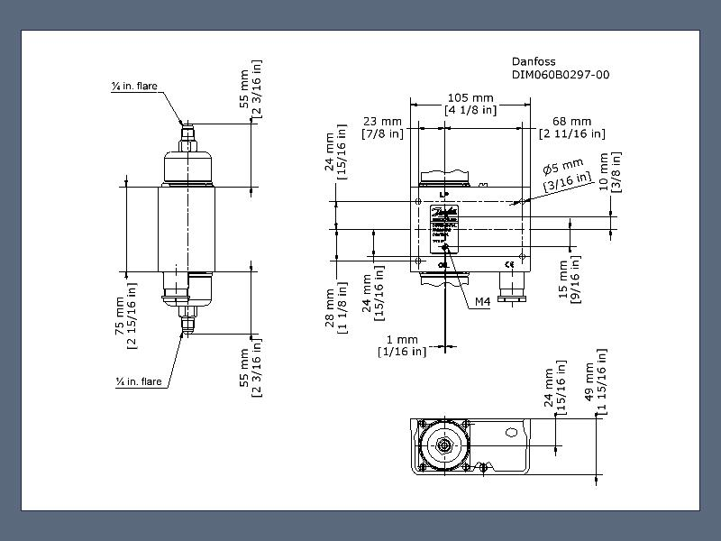 Differential Pressure Switch Mp54 Differential Pressure Switches Switches Cooling Danfoss Global Product Store