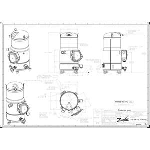 Scroll compressor, Inverter, VZH117AJBNA | Inverter Compressor