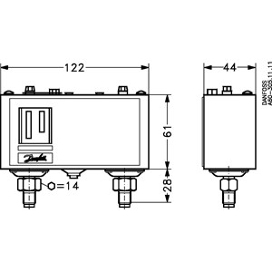 Product name: Pressure switch, Type: KP15A | Pressure Switches ... on