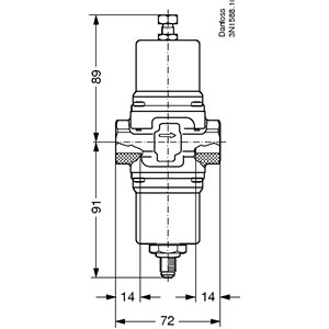 Product name: Pressure operated water valve, Type: WVO 15