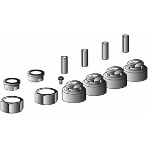 Mounting kit for one scroll compressor including 4 grommets 4 mounting kit for one scroll compressor including 4 grommets 4 sleeves 4 bolts 4 washers rotolock connection kit for suction discharge and economiser sciox Images
